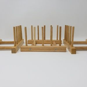 Ikea Wooden Plate Holders, Set of 3